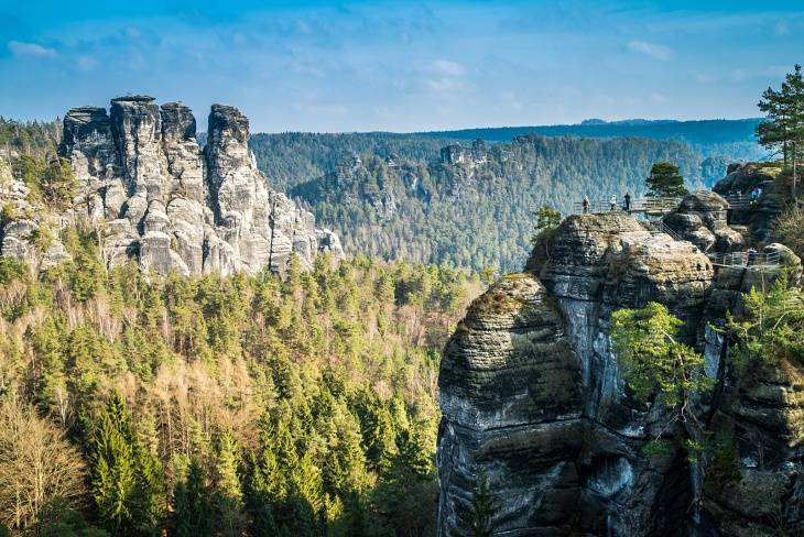 View of the Bastei Rock Castle