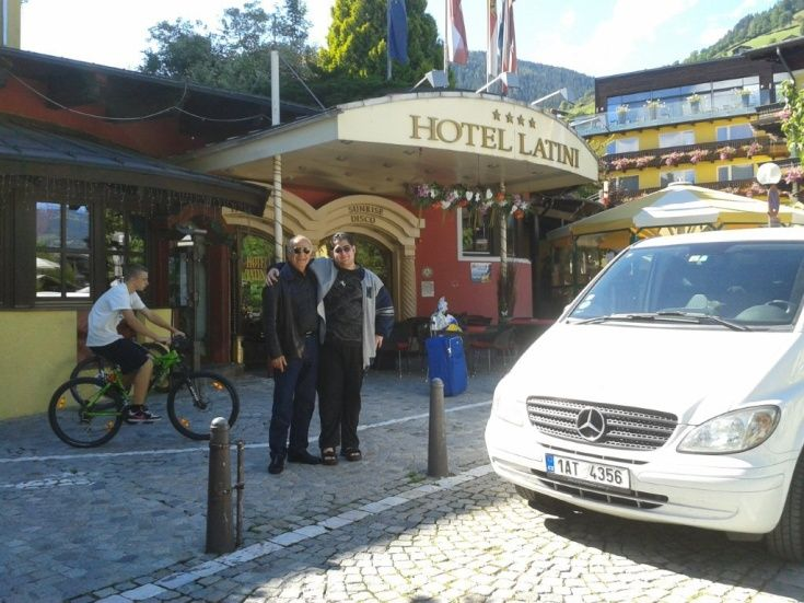 Mr. Aggarwal and family in Munich, part of the European car and driver hire services