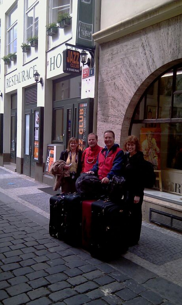 Minibus from Prague to Passau for Rita White